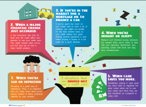 5 SITUATIONS THAT YOU SHOULD NOT USE A CREDIT CARD
