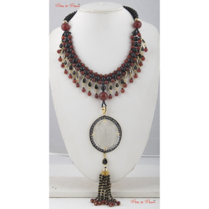 Necklaces with Rubies and black Onyx