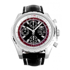 BREITLING BENTLEY leather black mens watches