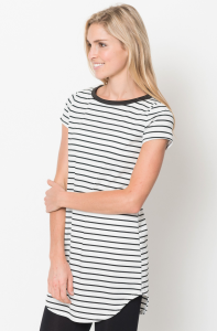womens striped tunic