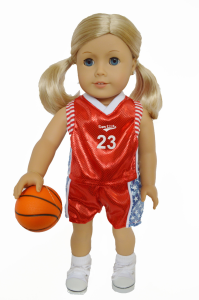 Basketball Outfit For 18inch  American Girl Dolls