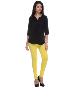 online shopping india - W Smart Casual YELLOW TIGHTS