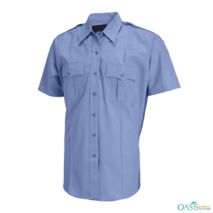 Pale Blue Casual Security Shirt