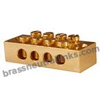 CDA 360 Brass 360 Neutral Links 4 Way C36000 Neutral Bars