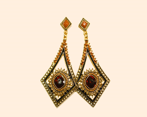 Gold Plated Stylish Party Wear Earrings