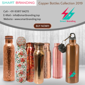 Copper Bottles Customize Logo Printing