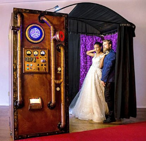 Vintage Steampunk Time Machine Photo Booth