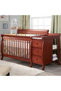 DaVinci Kalani 3 in 1 Convertible Crib and Changer Combo in Cherry