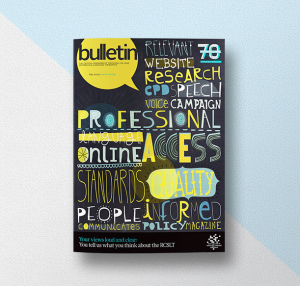 Cover design for Bulletin magazine for the RCSLT