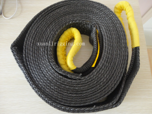 black snatch strap recovery strap tow strap