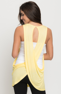 Draped tanks for women