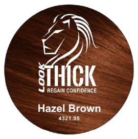 Hazel Brown Hair and Beard Fibers by Look Thick