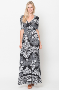 long black wrap maxi dress