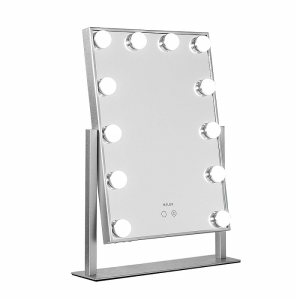 Mirror Silver with LED Lights for Makeup Dressing Table