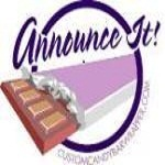 Candy favors and personalized party favors at Announce It!