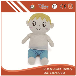Boy Plush Animal Doll Custom Color Baby Embroidery Designs