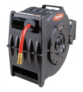 Legacy Retractable Air/Water Hose Reel - With 1/2in. x 50ft. PVC Hose, Max. 300 PSI, Model #L8335