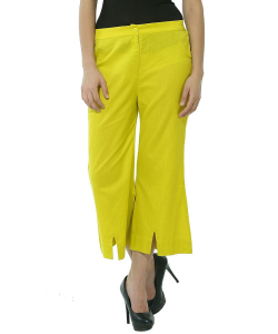 online shopping india - W Smart Casual Yellow PANTS