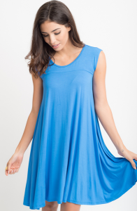 Jersey Cap Sleeve Dress Tunic