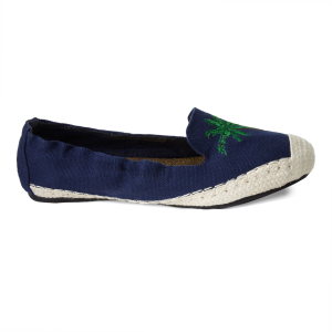 Carnaby Navy with Tropical Applique