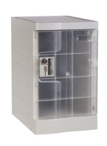 ABS Plastic Office Locker, Nine Tier, Multiple Locking Options
