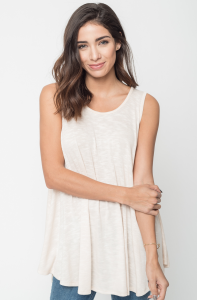 Buy Now Heathered Sleeveless Tunic Online @24$ -caralase.com