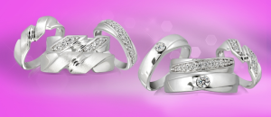 Couple Diamond Rings, Couple Rings Set, Gold Rings and bands online sales - Glitz Jewels