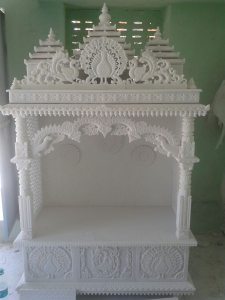 Pure White Marble Temples