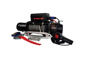 Saber Offroad 12000lb Winch With Synthetic Rope
