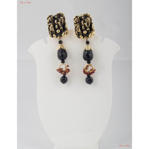 Fashion Jewellery Earrings - Black onyx paired