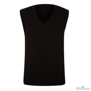 Boys School Black V-Neck Vest