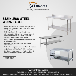 Buy Stainless Steel Kitchen Work Table For Commercial Use | SH Traders