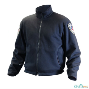 Navy Blue Cotton EMS Logo Jacket