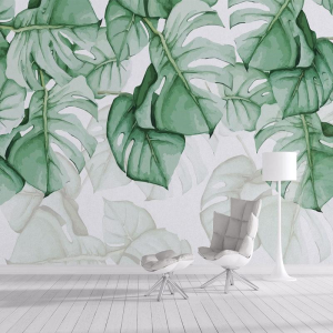 Jass London Aquarelle Rainforest watercolor mural