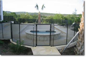 Self Closing Gate with Pool Fence
