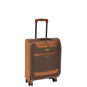 Four Wheel Suitcases Two Tone Brown Bag Earth