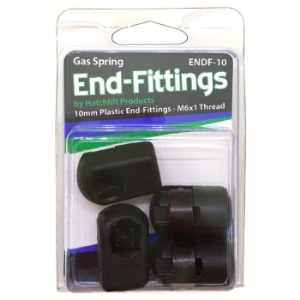 10mm Gas Spring end fittings with 6 x 1 thread - ENDF 10