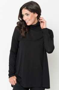 Buy Funnel Neck Draped Knit Tunic Online $20