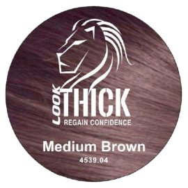 Medium Brown Hair Fibers by Look Thick Brand