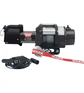 WARN 12 Volt DC Powered Electric Utility Winch_4700Lb Capacity_Galvanized Steel Wire_Model Warn 4700