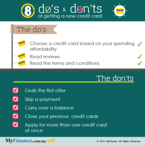THE 8 DO'S AND DON'TS OF GETTING A NEW CREDIT CARD