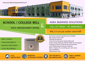 Automatic School Bell with Voice Announcement