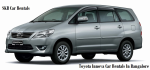 innova  6  or 7 seater cars on hire bangalore -09036657799