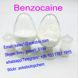 100% Safe to Europe, Anesthetic Benzocaine Powder Benzocaine hcl CAS 94-09-7 for Pain Killer