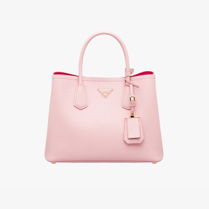 Prada BN2775 Leather Tote In Pink