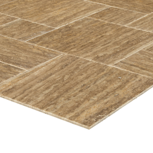 Noce Brown Opus Pattern travertine tile