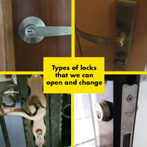 Types of locks that can be opened and changed