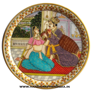 MUGHAL PAINTING ON MARBLE PLATE