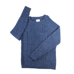 Superior High Quality Jacquard Cable Pullover Twist Stitch Argyle Donegal Wool Knitwear