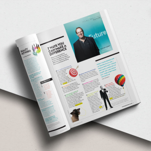 Editorial design for In-House Recruiter magazine